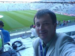 Sportcast's Phil Bonney at the Allianz Arena