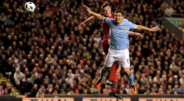 Andy Carroll header Liverpool Manchester City