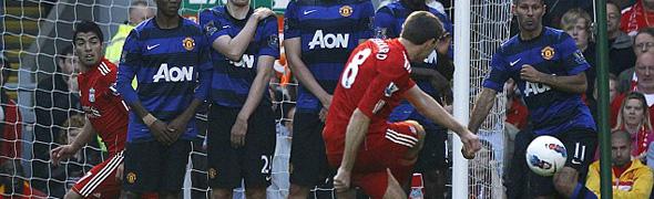 steven gerrard manchester united goal