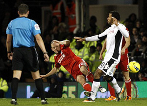jay spearing red tackle fulham