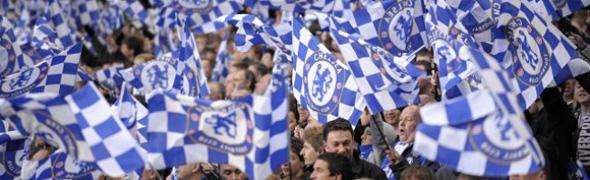 chelsea plastic flags fans