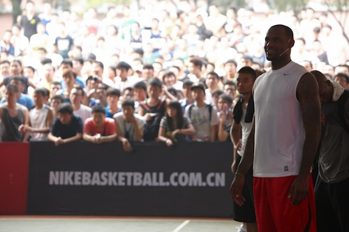 LeBron James Nike Asian tour