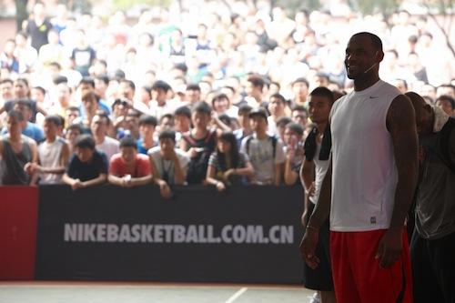 LeBron James Nike Asian tour