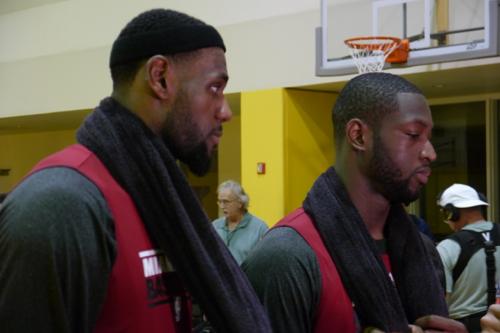 Wade LeBron Training Camp