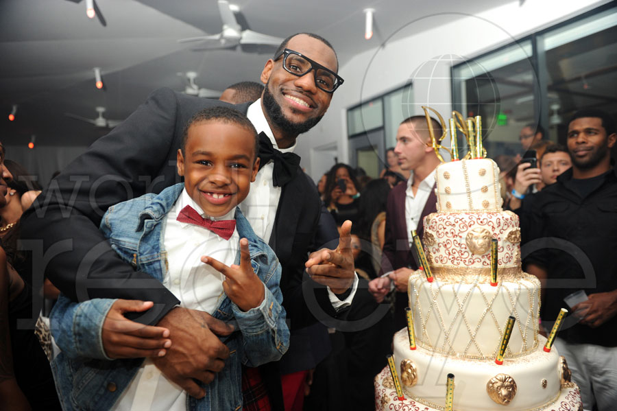 LeBron and son