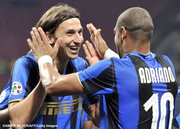 Ibra and Adriano, New BFF!