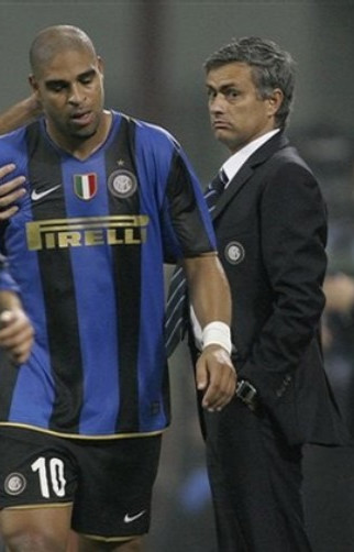 Adriano is on the outs with Mou right about now.