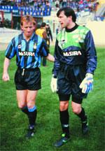 Andreas Brehme and Walter Zenga