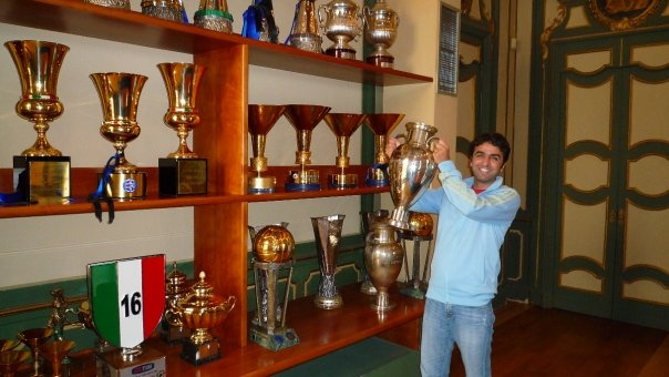 Mohi in the trophy room