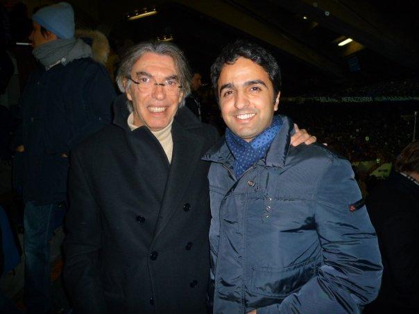 Mohi with Moratti
