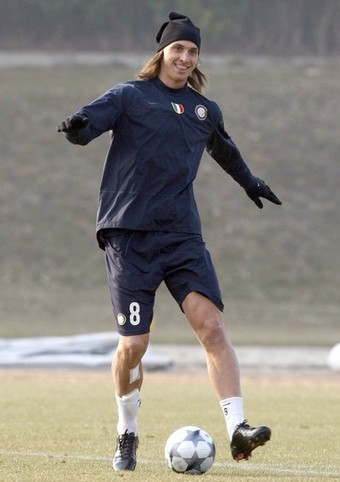 Ibra looking confident and relaxed