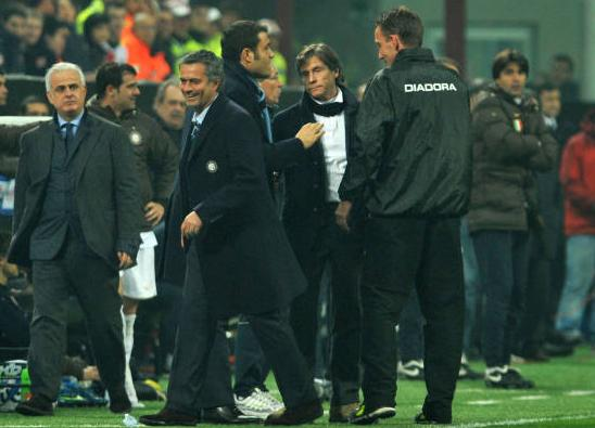 Mourinho is sent off in the dying moments of the match