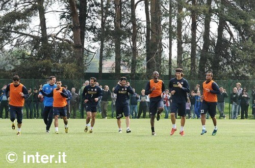 Training ahead of the Napoli match