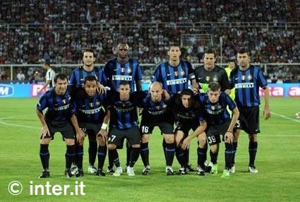 Starting line-up, Inter v Juve in the TIM Trophy