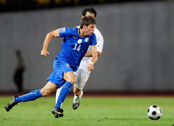 Despite not taking the pitch for Inter yet this season, Santon gets an Azzurri call-up.