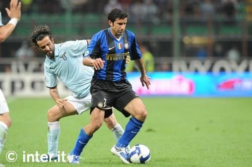 Figo against Lazio in last season 2-0 winner.