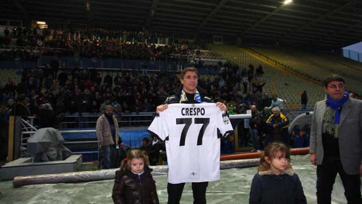 crespo presentation at Parma