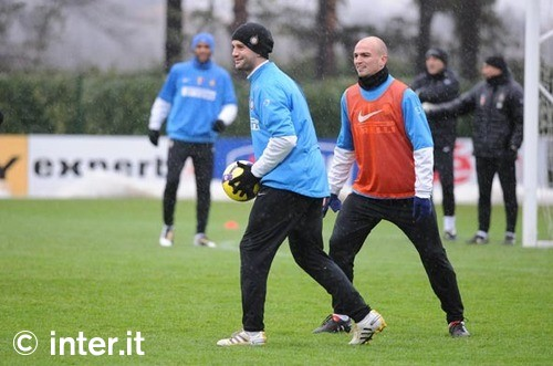 Chivu back in training