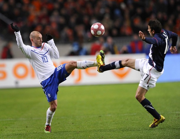 Sneijder for the netherlands against USA