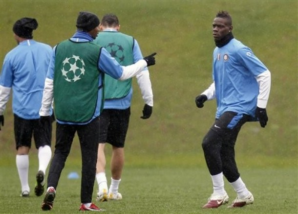 Balotelli before the CSKA Moscow match