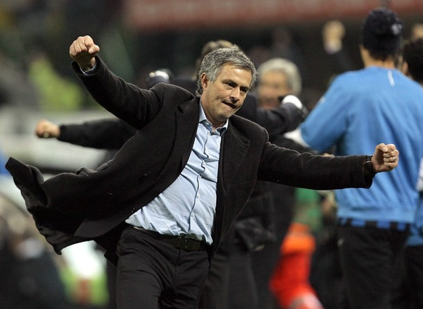 Mourinho does his happy dance