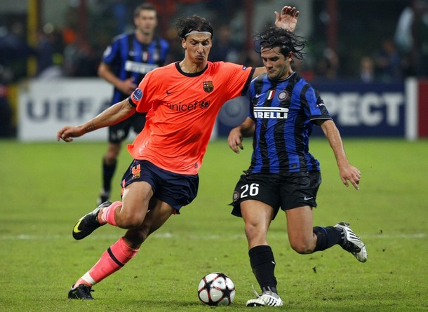 Chivu and Ibra - a battle of wills