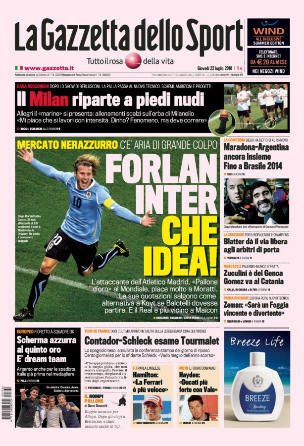 Are they Crazy? Forlan... Really?