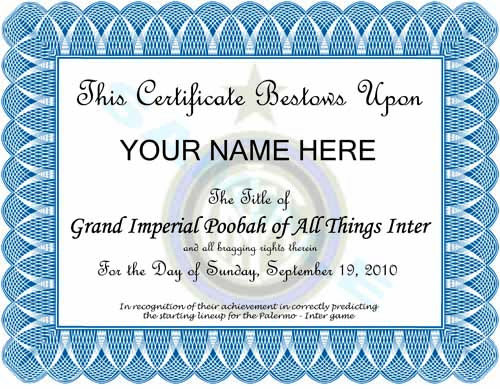 GIPATI Certificate