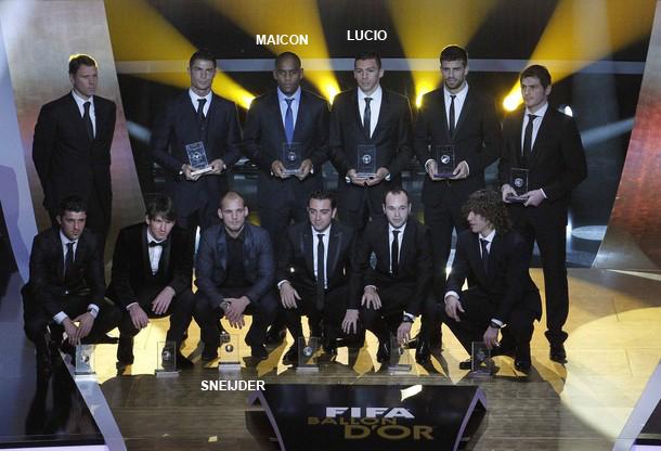 FIFA FIFPro World XI award 2010