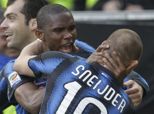 Sneijder loves Eto'o