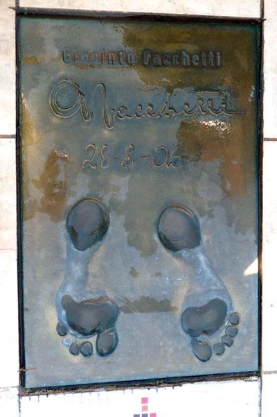 Facchetti's golden foot