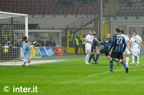 Inter v Napoli Cambi goal