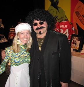 Barry Trotz at Nashville Predators Club 501 Disco Ball