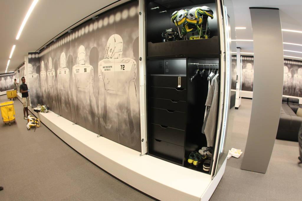 Oregon Football Locker Room