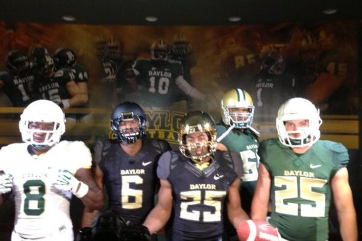 ... uniforms  Baylor unis. They look ... they look kind of exactly like  Oregon s 6577e8569