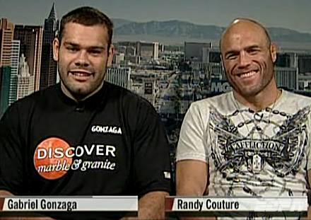 randy couture and gabriel gonzaga on espn news prior to ufc 74