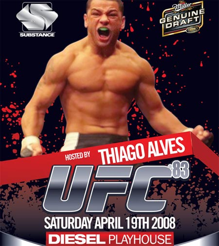 UFC 83 viewing party with Thia...
