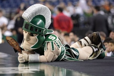 Sparty-mascot-of-the-michigan-state-spartans-lays-courtside-during-the-game_medium