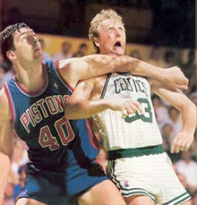 Bill Laimbeer and Larry Bird