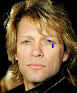 Even when upset, Bon Jovi can only bring himself to cry one single tear.