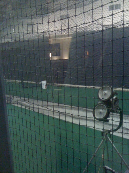 Secret batting cage
