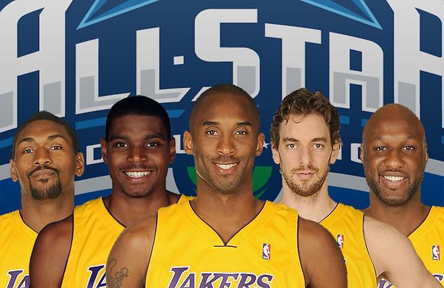 la lakers  starting lineup