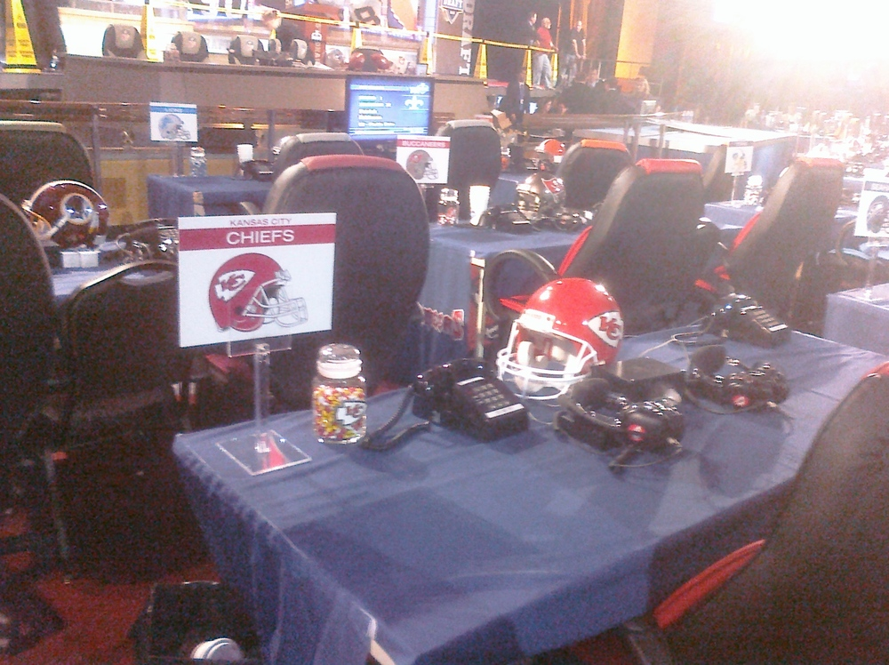 This Is The Chiefs Draft Table.