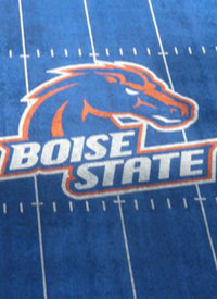 Blue turf at Boise State's Bronco Stadium