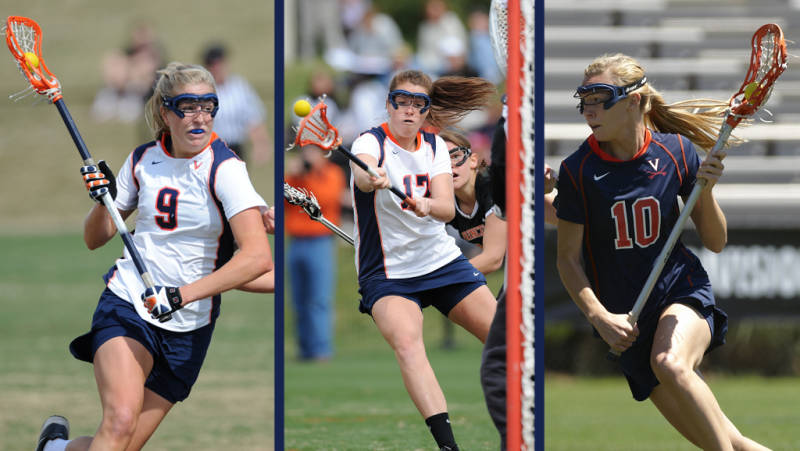 Whitaker Hagerman, Brittany Kalkstein, and KaitlinDuff, courtesy UVa Media Relations