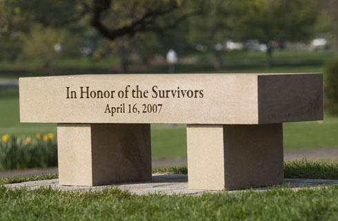 Memorial Bench dedicated on April 15, 2010
