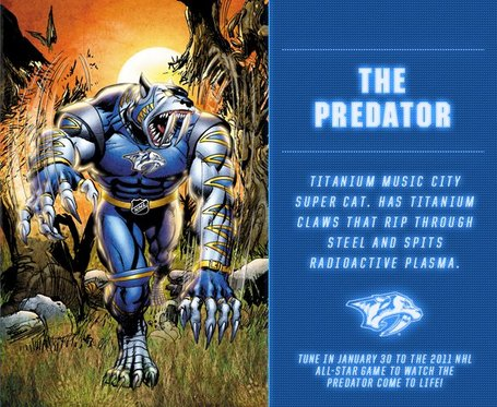 The Predator from the NHL Guardian Project