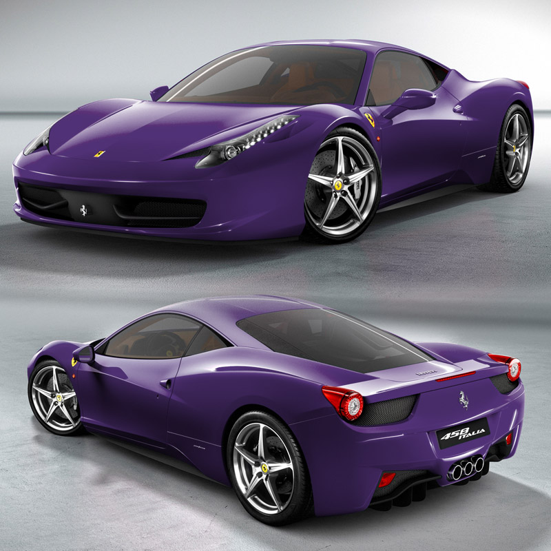2010 ferrari 458 Italia purple