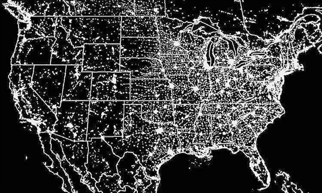 Satnews Publishers Daily Satellite News Us Map Lights At Night - Us map night