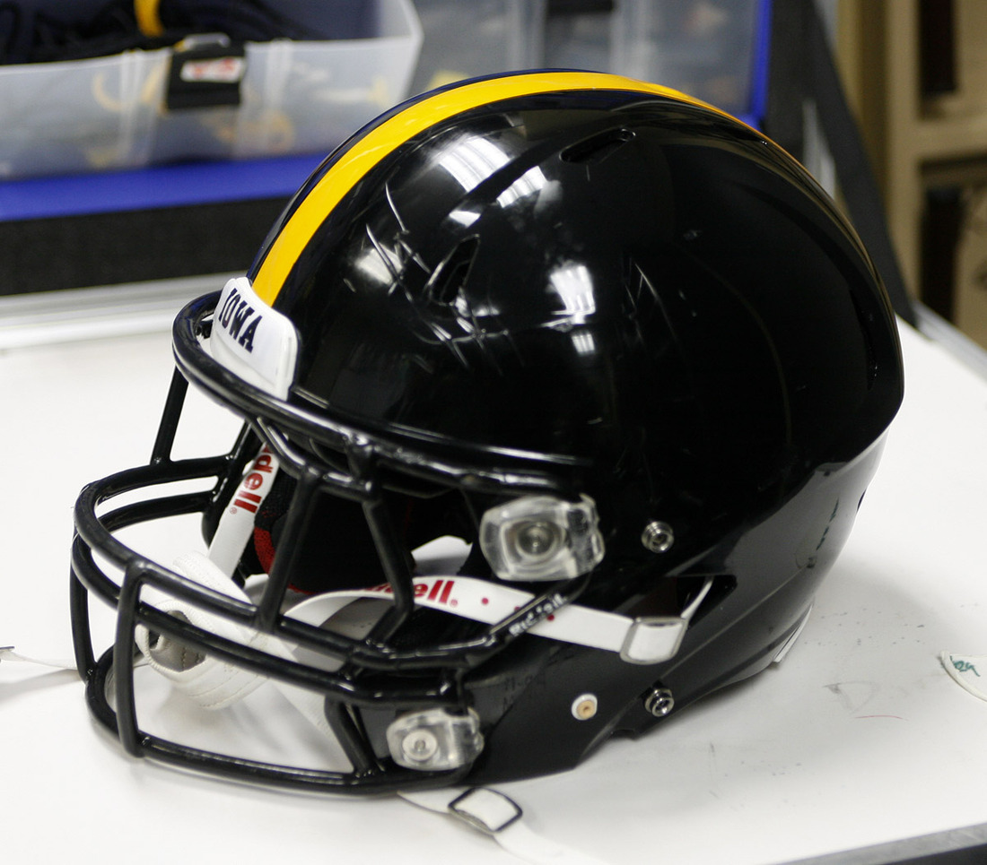 iowa unveils veterans day inspired helmets for michigan game